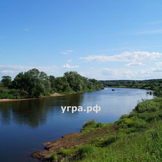 деревня Староскаковское фото Угра река