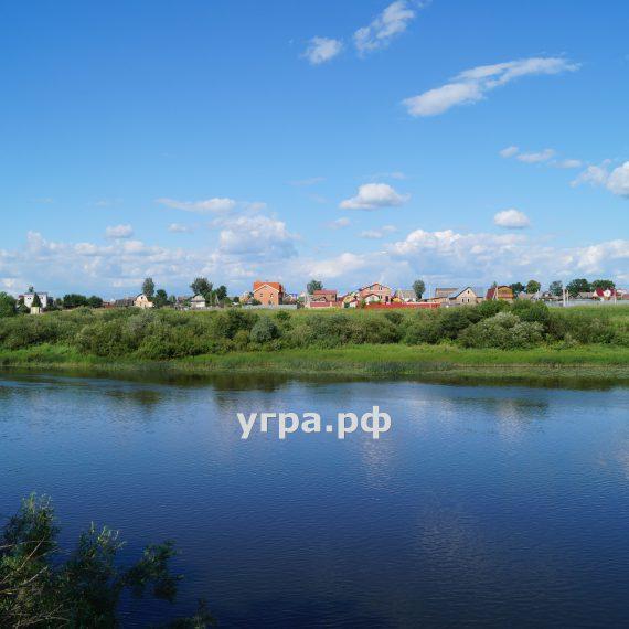 дом село Дворцы левый берег реки Угра Кирпичный 2006 года